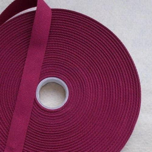 2,5 cm x 50 m rouleau de ruban coton NOIR bunting