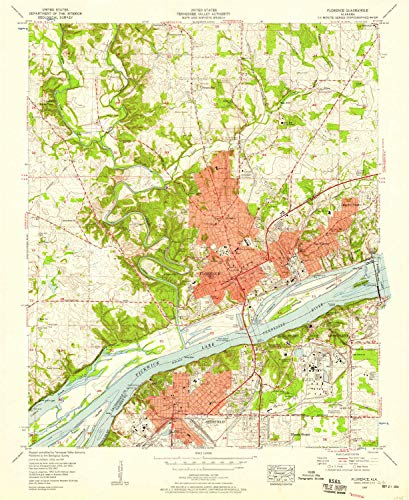 AL topo map, 1:24000 Scale, 7.5 X 7.5 Minute, Historical, 1957, Updated 1958, 26.9 x 22 in - Paper ()