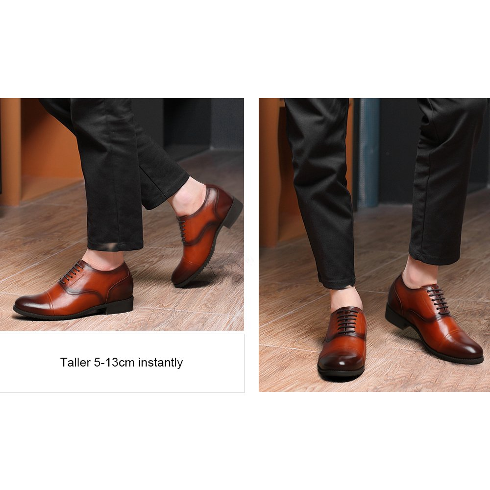CHAMARIPA 252H11-1 Men's Height Increasing Elevator Dress Shoes Oxford 2.56'' Taller US 10 by CHAMARIPA (Image #6)