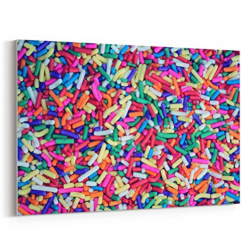 Westlake Art - Sprinkles Color - 16x24 Canvas Print Wall Art - Canvas Stretched Gallery Wrap Modern Picture Photography Artwork - Ready to Hang 16x24 Inch