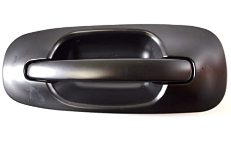 Outer Exterior Outside Door Handle Primed Black Driver Side Rear
