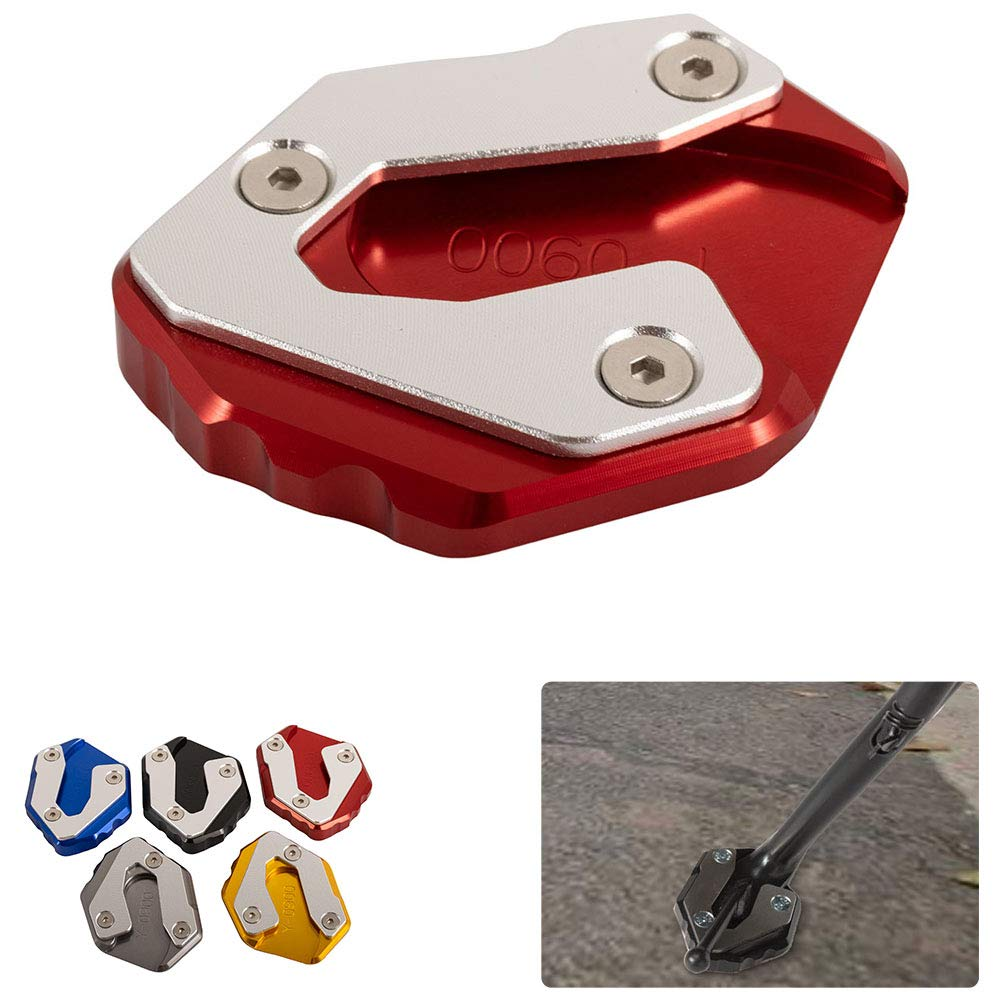 Blue New Motorcycle Accessories Aluminum Kickstand Enlarger Plate Side Stand Widening Base for Yamaha MT09 2014-2018 for XSR900 2016-2018