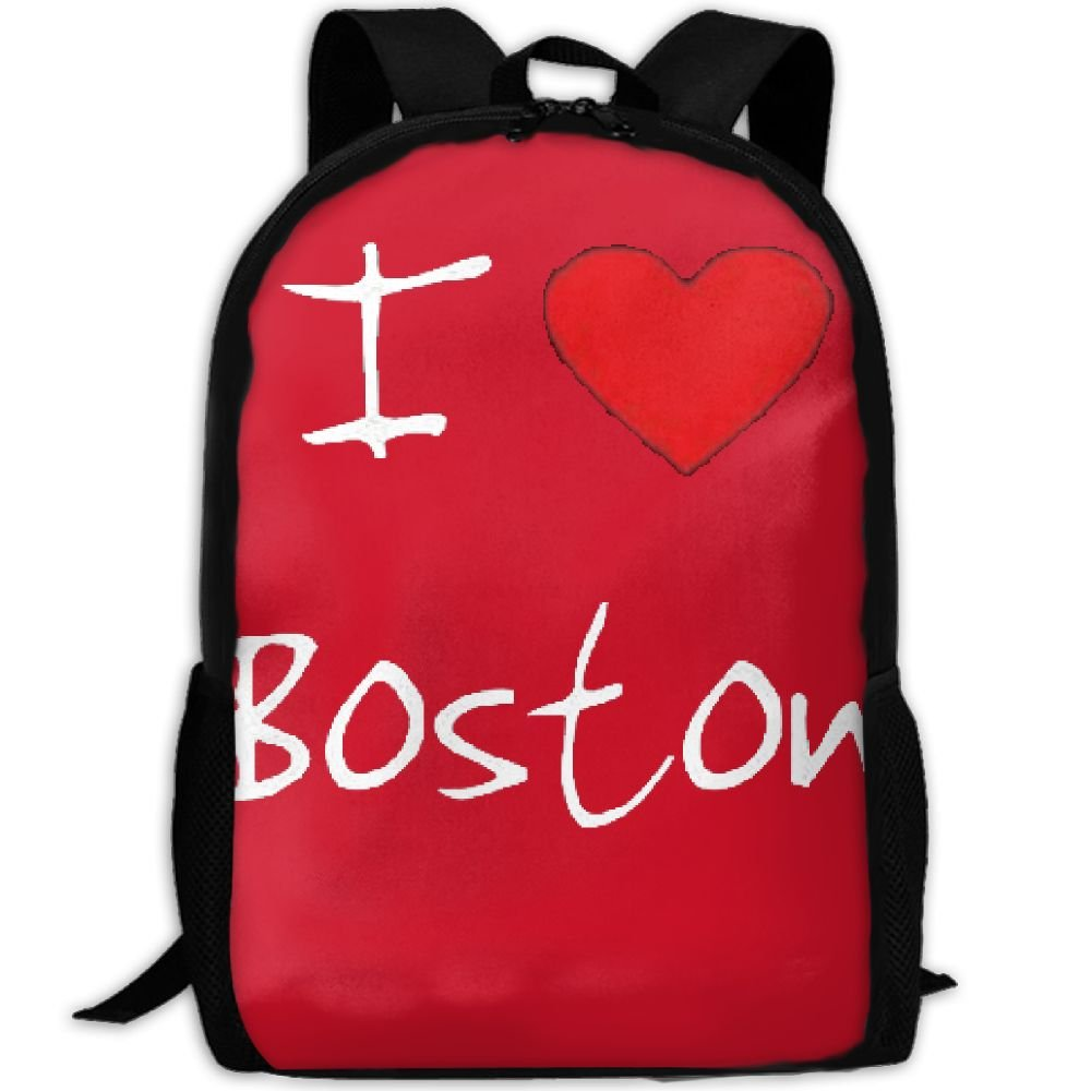 55c62fe117 I Love Heart Boston Luxury Print Men And Women s Travel Knapsack hot sale  2017