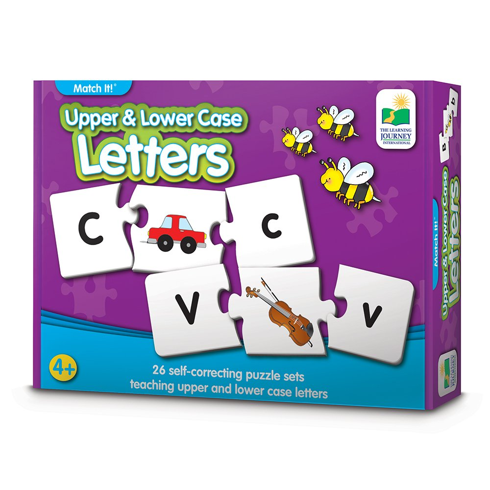 Amazon the learning journey match it upper lower case amazon the learning journey match it upper lower case letters self correcting alphabet matching puzzle toys games ccuart Gallery