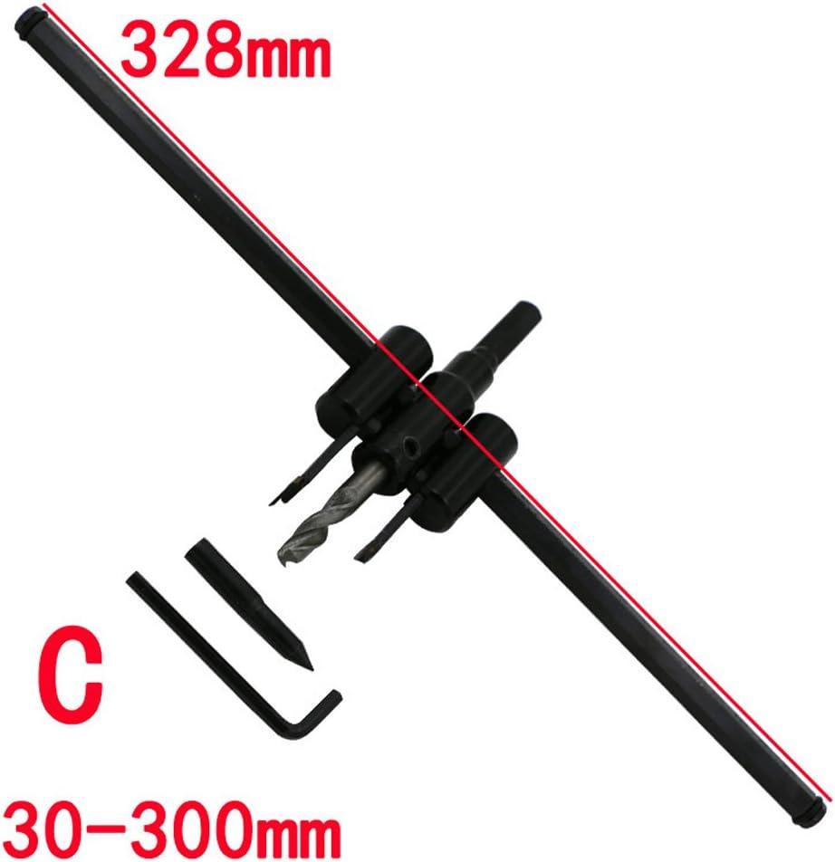 30-300mm Dehnbare Docht sah Glocke einstellbar Twist Drill Kit DIY Tool 120//200//300 mm