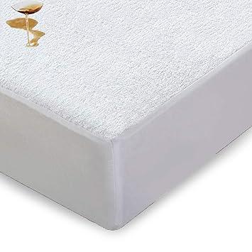 Comquincenas impermeable Terry toalla colchón protector King 150 x 200 x 32cm: Amazon.es: Hogar