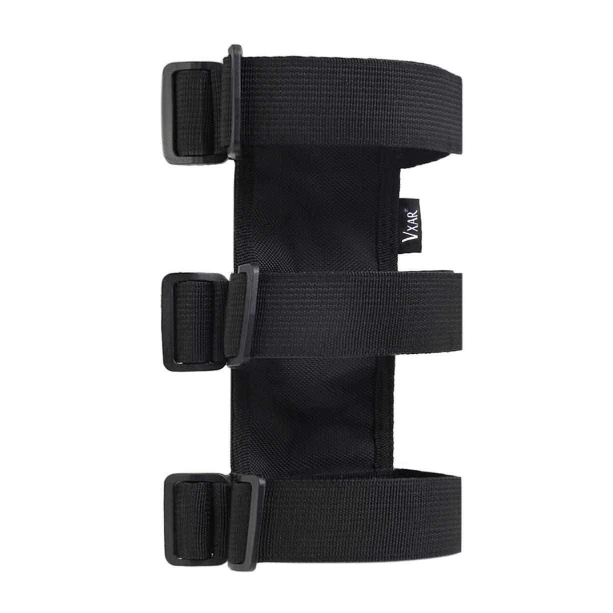 VXAR Fire Extinguisher Holder Canvas Adjustable Roll Bar Mounted for Jeep Wrangler (Black)