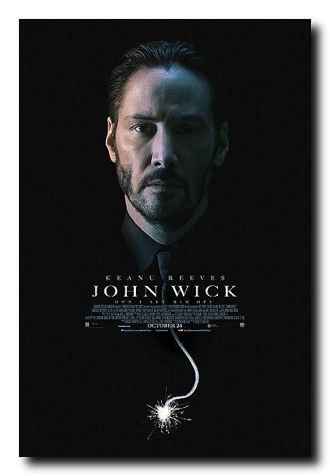 John Wick  Keanu Reeves Silk Poster Wallpaper 24 X 13 inches