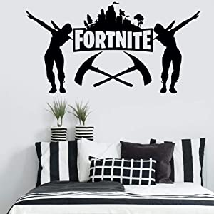 Fort_nite Wall Sticker 20X32inch Gamer Wall Decor for Boys Room Gaming Decals Video Game Vinyl Stickers Teen Bedroom Art Decorations Removable Stylish Mural Unique Design (20X32inch) (Fort-nite)