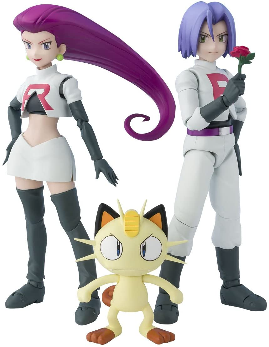 S. H. Figuarts Pokémon Rocket Group about 140 mm ABS & PVC painted action figure