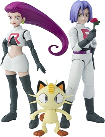 "NEW POKEMON TEAM ROCKET FIGURES JESSE AND JAMES 6 /"" TALL"