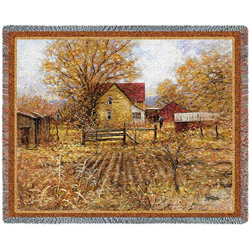 Pure Country Homestead Tapestry Blanket Throw - Pure Country Cotton Tapestry