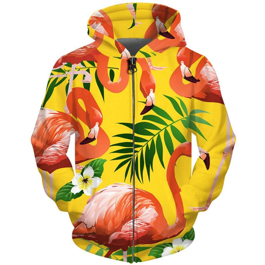 Snake beauty 3D-Gans Hoodies Herren Trainingsanzug Tier Flamingo Blume Gras Hoodie Unisex Harajuku Zip Up Hoodie