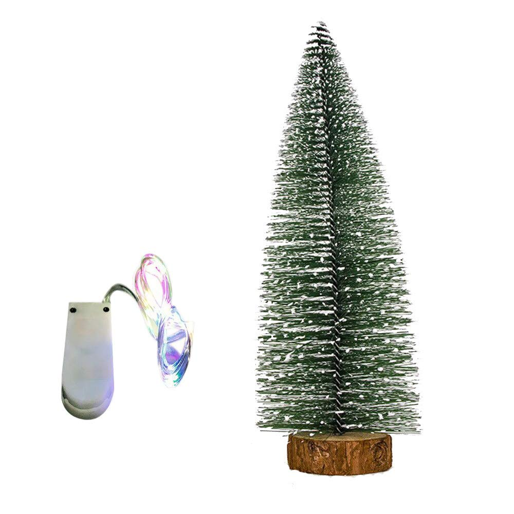 Best Choice Decoration for Christmas Ankola 3.9inch-11.8inch Premium Artificial Christmas Pine Tree White Cedar Easy Assembly with Light (7.8inch, As Shown)