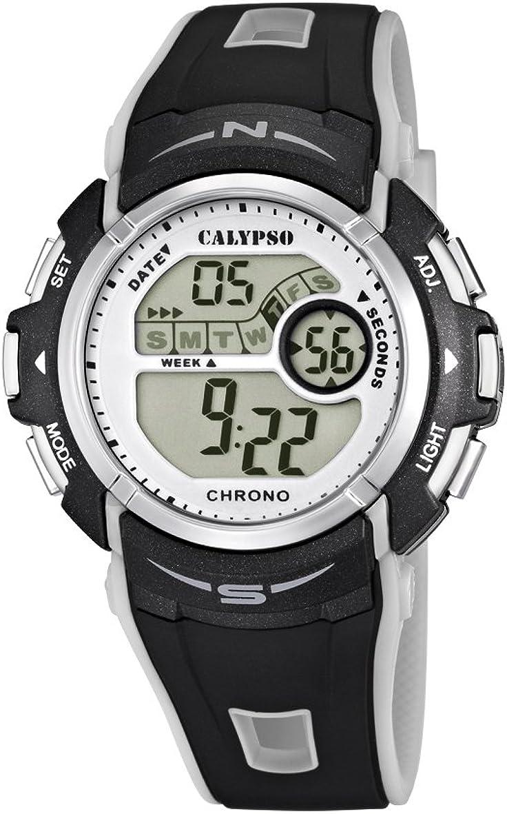 Calypso Reloj Cronógrafo para Chico de Cuarzo con Correa en Silicona K5610/8