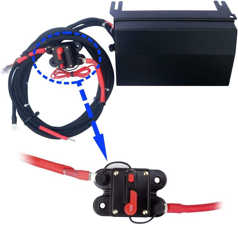 6 Gang Rocker Switch Panel Control System for Wrangler JK /& JKU 2007-2018 with Blue Backlight Control Pod and Relay Box