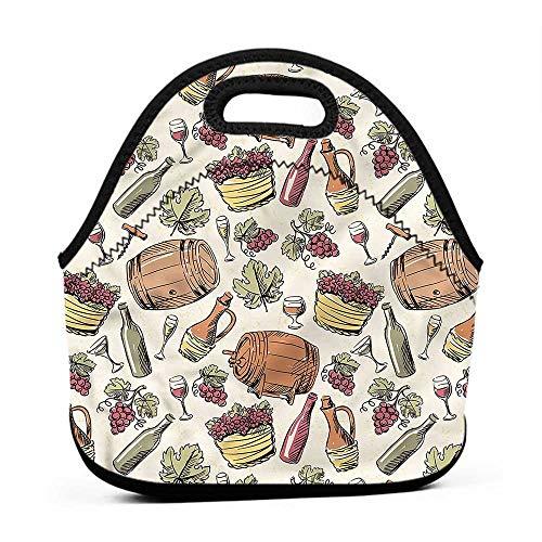 (for Womens Mens Boys Girls Winery,Viticulture Grapevine Barrel,best lunch bag for men)