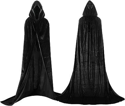 Adulti Diavolo Rosso Mantello Vampiro Donna Uomo Halloween Costume Dracula Vampiro