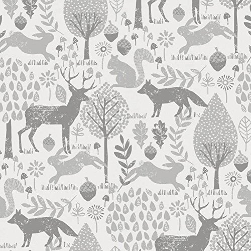 Lounger Cover - Grey Woodland Animals