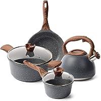 Caannasweis Nonstick Kitchen Cookware Set, Pots and Pans Set Includes Nonstick Frying Pan, Saucepan, Cooking Pots…
