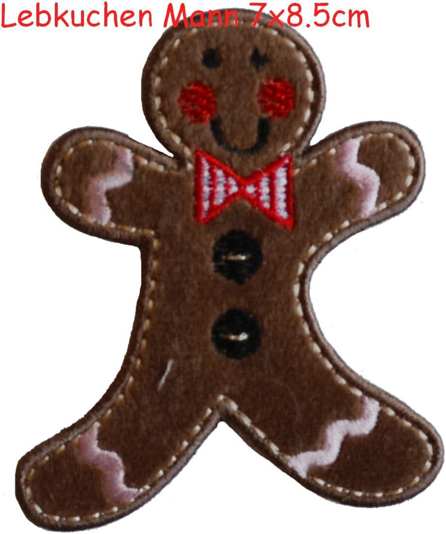 2/Patches brod/és thermocollant h/érisson 9/x 7/cm Gingerbread Man 7/x 9/cm/ //à coudre ou appliquer avec fer /à repasser TrickyBoo Zurich Suisse pour Italie