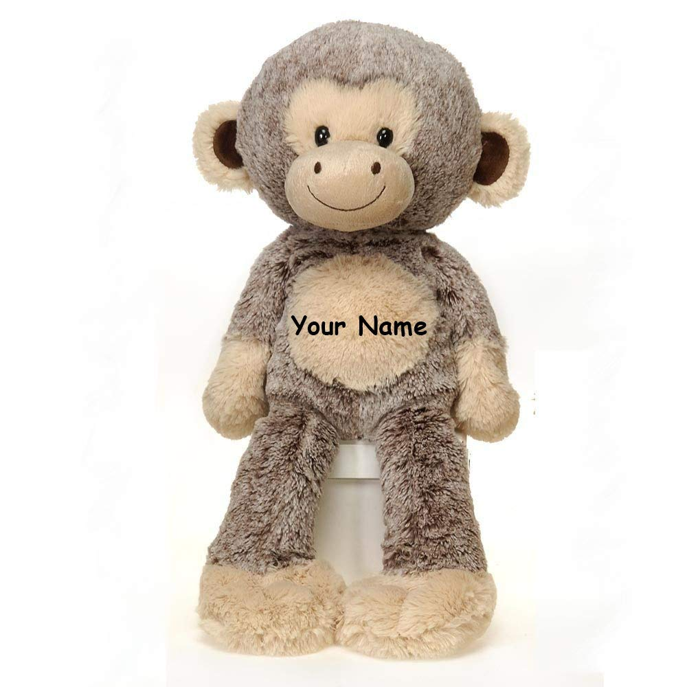 Fiesta Toys Personalized Fuzzy Folk Harold Monkey Plush Stuffed Animal Toy - 16 Inches by Fiesta Toys