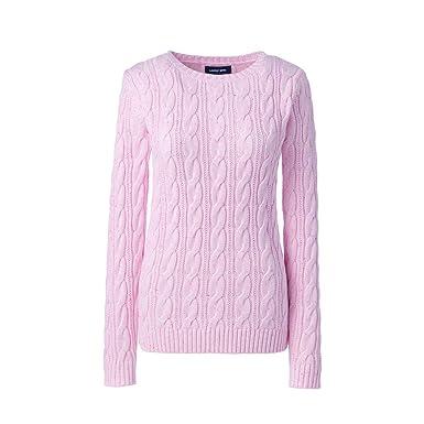 d5beea92ff2b Lands  End Women s Plus Size Drifter Cotton Cable Knit Sweater ...