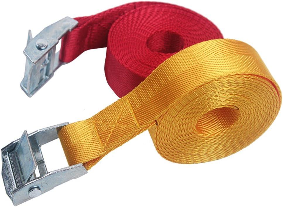 Sangles darrimage appareils mobiles Pelouse /équipement rouge Sangles darrimage sangle de Lot en nylon r/églable Heavy Sangle en toile Boucles Clips pour motos