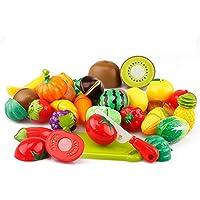 Qifumaer Jeu d'imitation Couper Les Légumes et Fruits à découper Dînette Cuisine Jouets Imitation Peradix Jouet éducatif Tôt Développement Intellectuel pour Bébé Enfant
