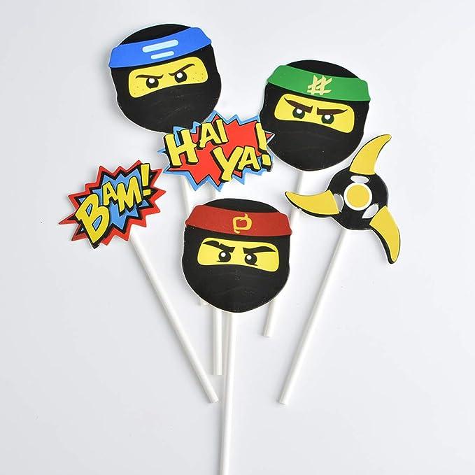 Kreatwow 24 Ninja Warrior Cupcake Toppers para la Fiesta de ...
