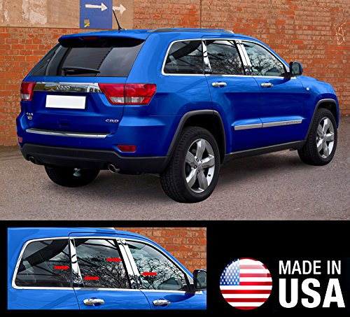 Made In USA! Works With 2011-2017 Jeep Grand Cherokee 8PC W/Straight Piece Pillar Post