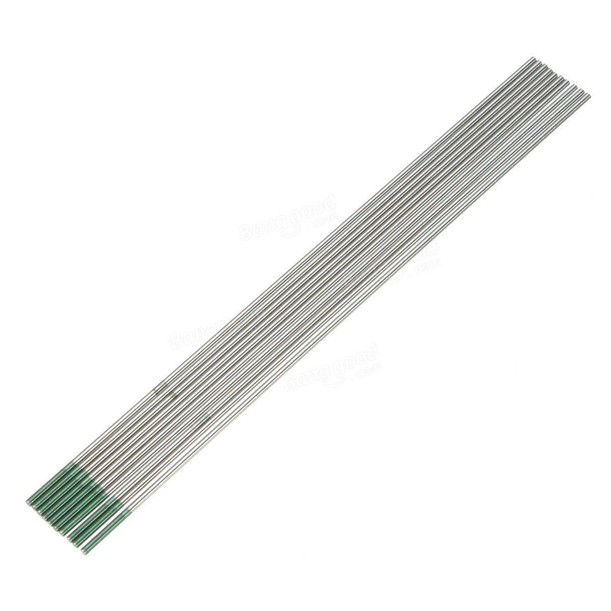 Calli Verde punta del electrodo de tungsteno puro para la soldadura TIG 10pk 1.6 mm x 150 mm: Amazon.es: Electrónica