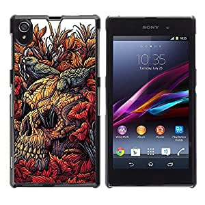 Planetar® ( Floral Spring Nature Birds Meaning ) Sony Xperia Z1 / L39h / C6902 / C6903 / C6906 Fundas Cover Cubre Hard Case Cover