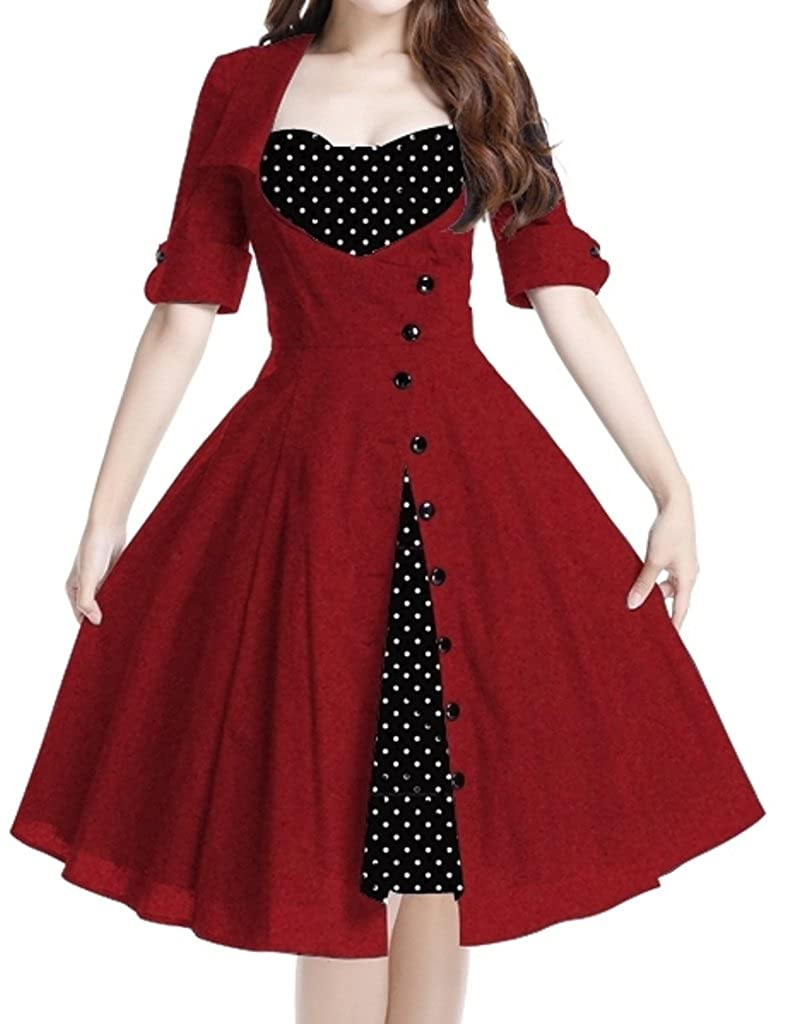 441f8ca4a Top 10 wholesale 50s Black And White Polka Dot Dress - Chinabrands.com