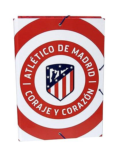 Atletico DE Madrid Carpeta con Solapas tamaño Folio