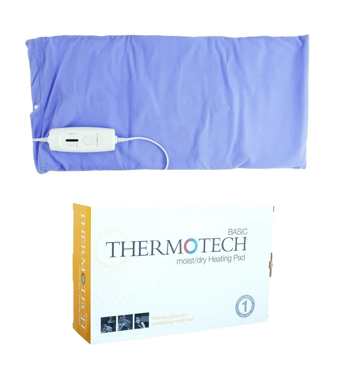 Electric Heating Pads for Back Pain and Cramps by Thermotech - Extra-Large Moist Heat Blanket - Basic Economy Pad