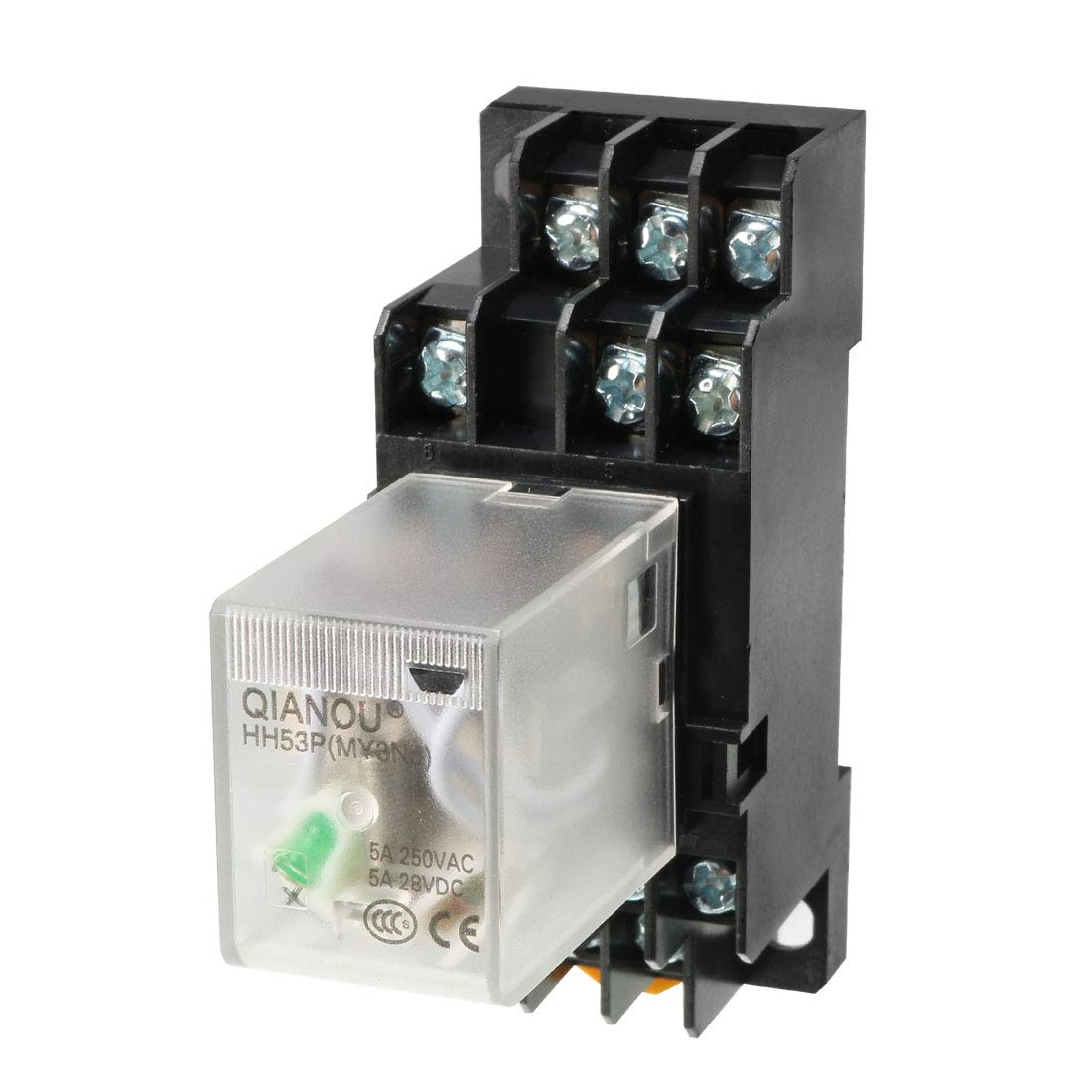 uxcell DC12V Coil Green Indicator Light 8 Pin DPDT Electromagnetic General Purpose Power Relay + Socket Base