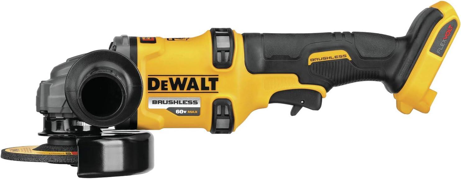 DEWALT FLEXVOLT 60V MAX Angle Grinder with Kickback Brake, 4-1/2-Inch to 6-Inch, Tool Only (DCG418B)