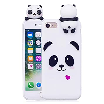 coque iphone 8 panda silicone