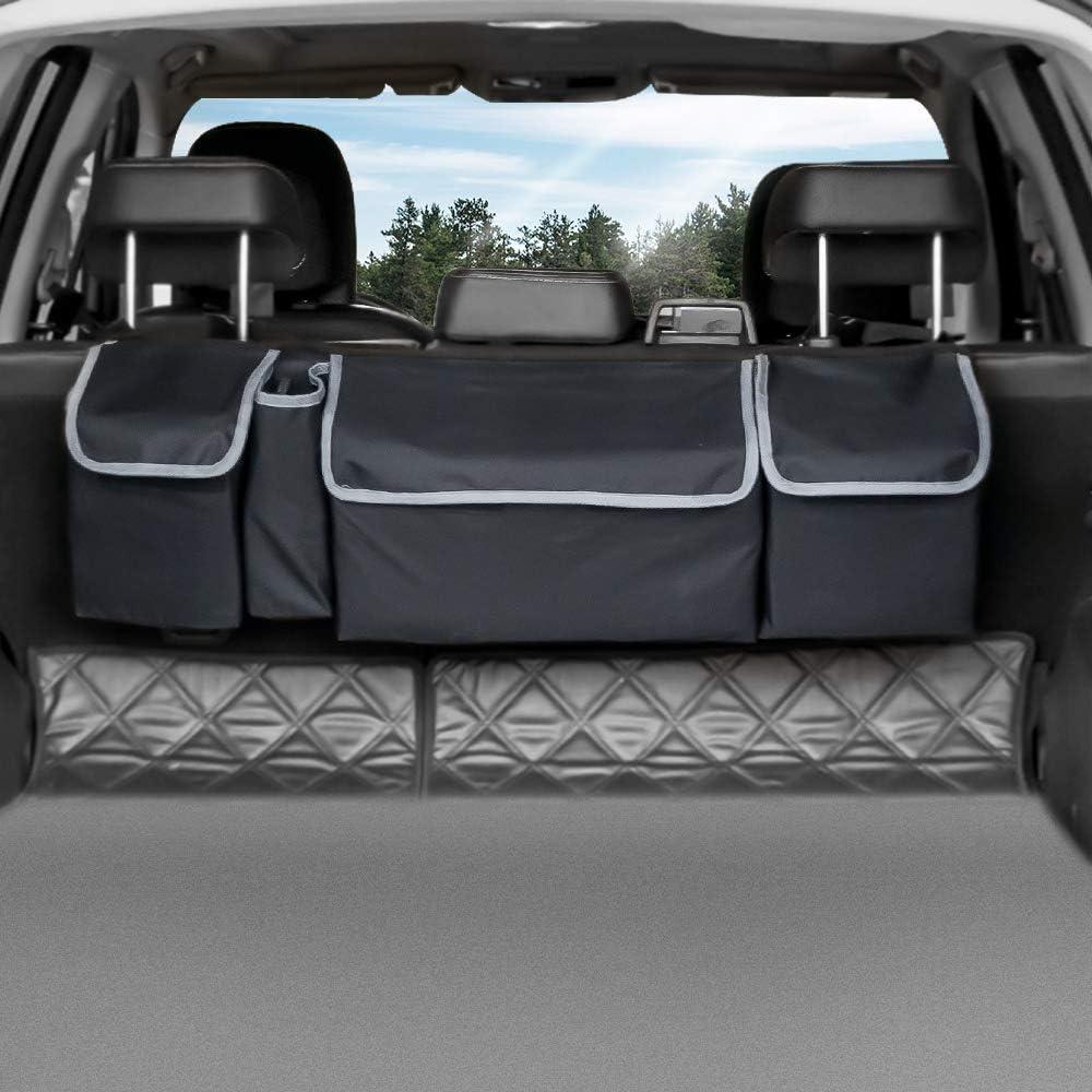 Negro Luxja Organizador del almacenaje del Asiento de Carro Organizador del Asiento de Carro Frente con el Almacenamiento del Ordenador port/átil y de la Tableta