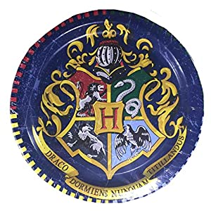 Harry Potter Party Supplies Childrens Birthday Party Tableware Pack And Adults For 16 Bundle - Includes 16 Dinner Plates, 16 Dessert Plates, and 16 Luncheon Napkins
