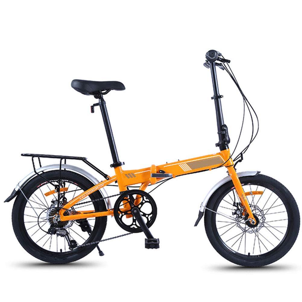 mejor marca D WHKJZ Unisex Aleación Aleación Aleación Aluminio Bicicleta Plegable 20 Pulgada Ruedas 7 Velocidades Variable Los Frenos Disco Doble livianos y Convenientes  varios tamaños