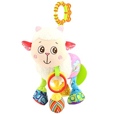 YeahiBaby Plush Hanging Toys Cute Animal Baby Rattle Toys for Infant Stroller Cot Crib Bed (Sheep): Toys & Games