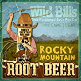 Wild Bill's Root Beer Soda Can Drink 12 Pack Real