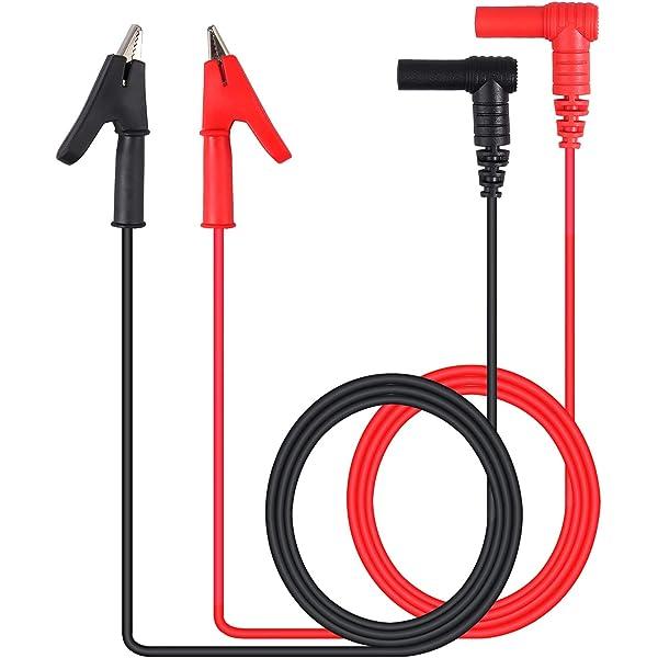 Paire Noir Rouge 1000 V Banana Multimeter Probe Test Lead Cable 60 cm