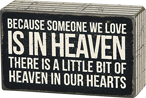 Primitives by Kathy Someone We Love in Heaven Bereavement Box Sign (Best Dad In The World Card)