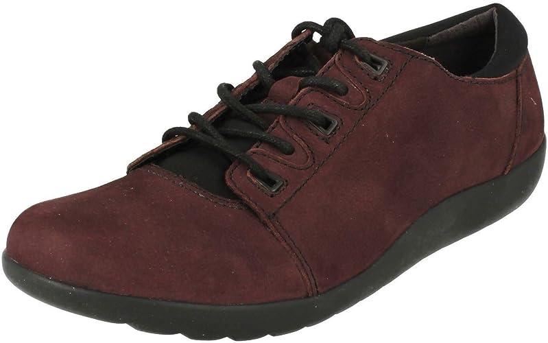 clarks flat lace up shoes