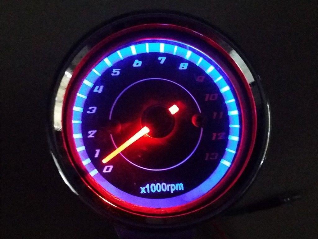 LED moto tradizione tachimetro calibro misuratore Cafe Racer Old Shcool CB