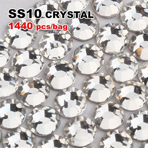 Gellen Nail Rhinestones Transparent Crystal Nail Art Decoration DIY Tips Stickers 2.9mm 1440pcs #SS10