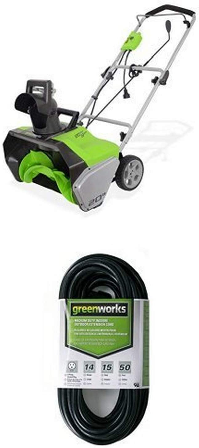 Green works 20-Inch 13 Amp Corded Snow